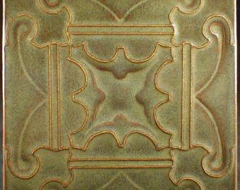Fireplace tile, art tile, handmade tile, accent tile, handmade tile, backsplash tile, cuenca tile