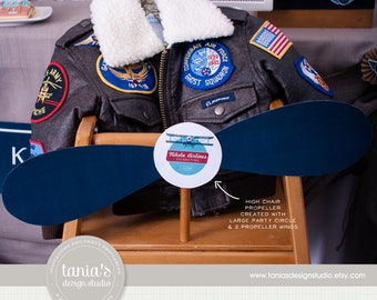 Time Flies - Birthday High Chair Propeller - First Birthday - High Chair Bunting - Photo Prop - by Tania's Design Studio