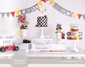 Time Races - Racing - Race Car Printable Birthday Party Package by tania's design studio