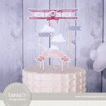 Time Flies - Birthday Cake Topper - First Birthday - Cake Centerpiece - by Tania's Design Studio