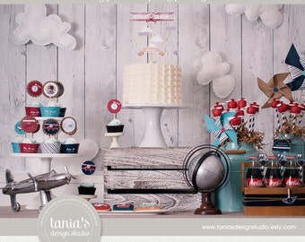 Time Flies Airplane Printable Birthday Party Package by tania's design studio