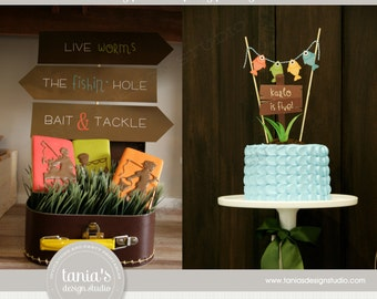 Gone Fishing Printable Birthday Party Package by tania's design studio