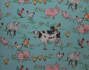 Fitted Pack n Play Sheet - Farm Animals