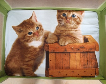 Fitted Pack n Play Sheet -  Kittens