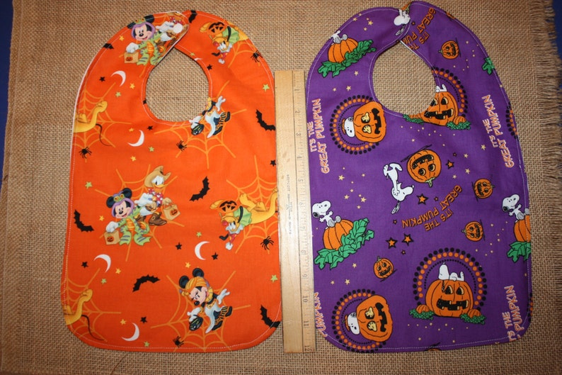 Infant/Toddler Waterproof Snap Bib    Halloween Purple  image 0