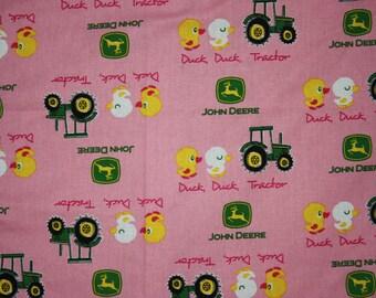 Fitted Pack n Play Sheet - Pink John Deere
