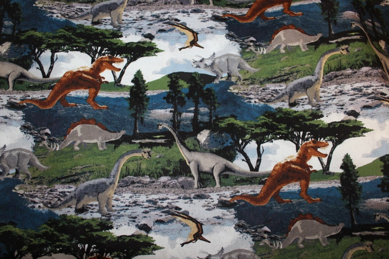 Children's Cot Sheet  Dinosaurs image 0