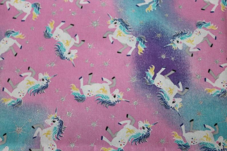 Children's Cot Sheet  Unicorns image 0