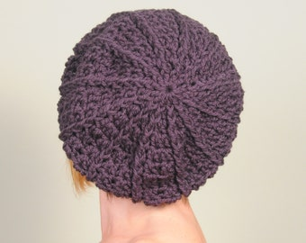 Crochet hat, beanie  wool,  brown color women's accessories, winter hat. Handmade. Ready to ship.
