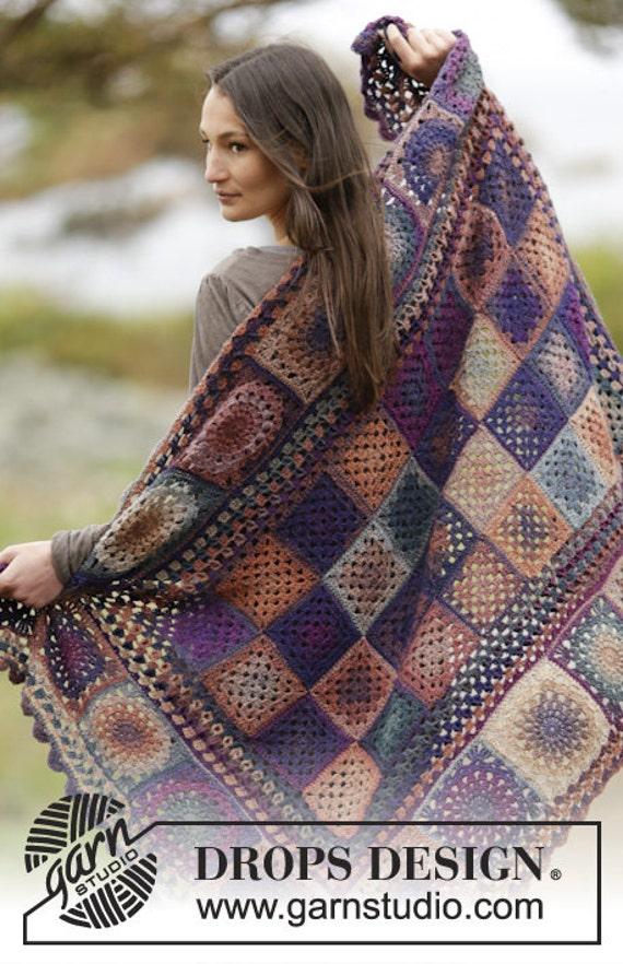Stricken Sie wolle Decke häkeln Spitze Muster Winter | Etsy