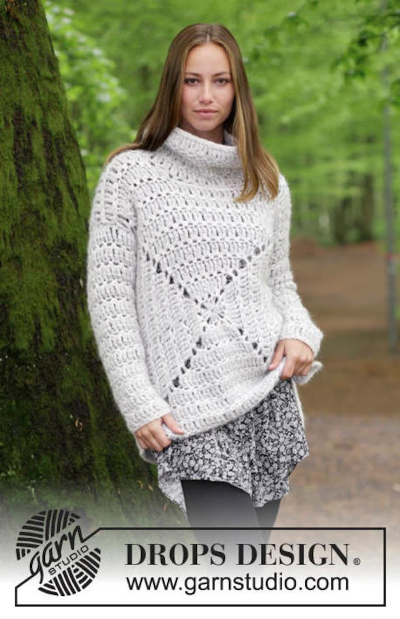 Maglione Uncinetto Donna Pullover Con Collo Alto In Alpaca Etsy