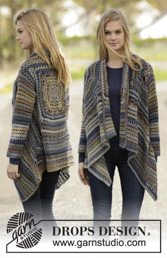 Jacke Frau Häkeln Wolle Jacke Herbst Winter Outfit Etsy
