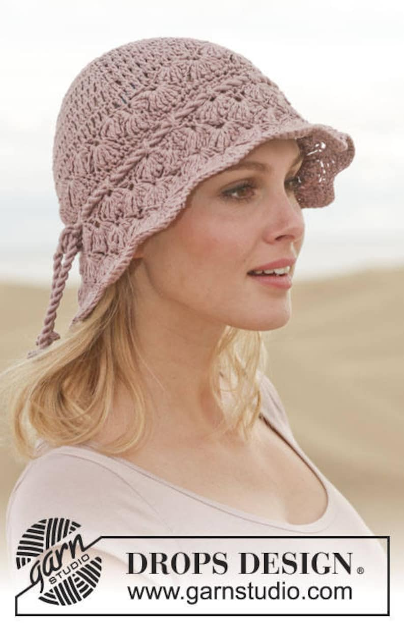 Cappello Donna Uncinetto Berretto In Cotone Accessorio Etsy