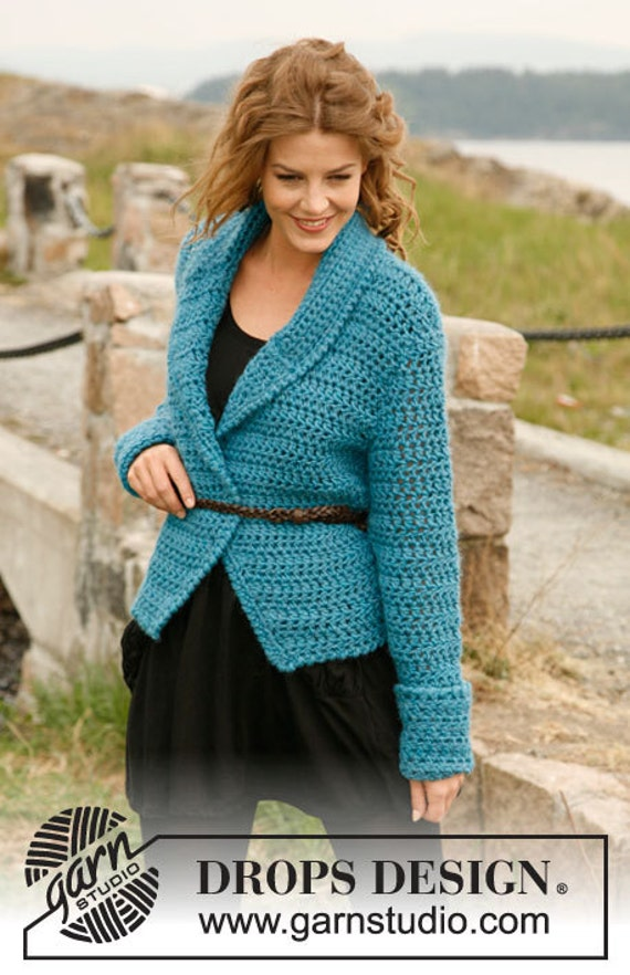 Giacca Cardigan lana in uncinetto Outfit Etsy donna Giacchetto 7cqw4Oyf5f