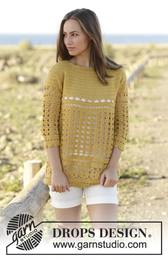 34 ärmel Pullover Damen Pullover Häkeln Wolle Und Baumwolle Etsy