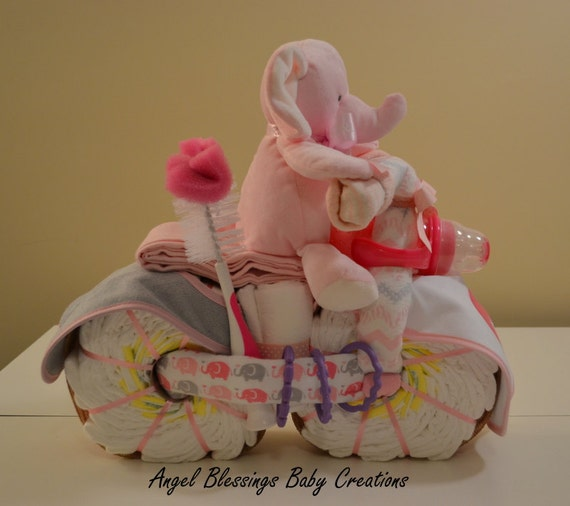 Elephant Diaper Motorcycle Baby Girl Boy Gender Neutral Baby Etsy
