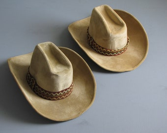 Vintage Mens or Womens Felt Western Cowboy Hat - Size 6 3 4 to 6 7 8 - size  S 4fe6c61d7301