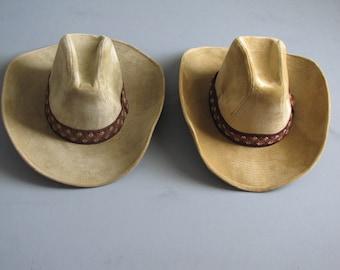 f2d9b5994b6bb Vintage Mens or Womens Felt Western Cowboy Hat - Size 7 to 7 1 8 - size M
