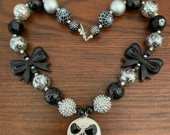 Jack Ghost Inspired Bubble Gum Necklace Three Styles (Adult)