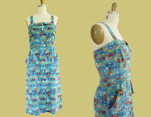 Vintage • 1940's Handmade Sundress / Day Dress