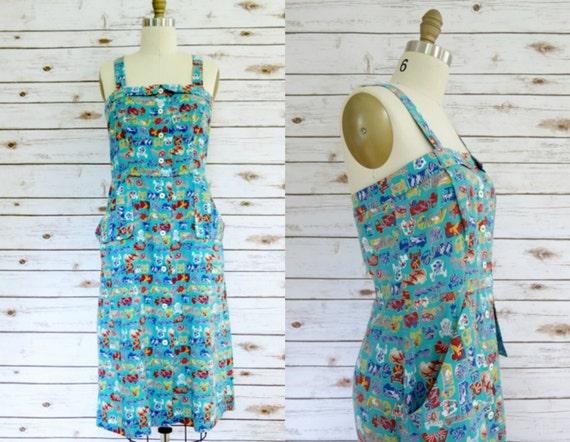 Vintage • Handmade 1940's Sundress - Aquamarine pr