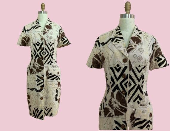 Vintage • Carole Little Printed Dress