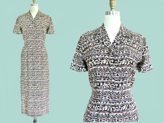 Vintage • Maggy London Printed Shirtdress
