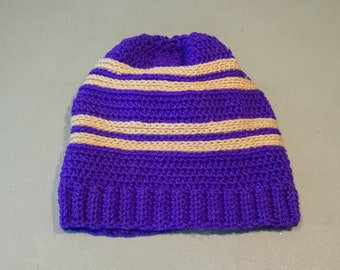 Ready to Ship: Adult size purple beanie