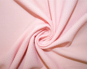 bf0baf8b3ba Light Pink #105 Bullet Ribbed Scuba Techno Double Knit 2-Way Stretch  Polyester Lycra Spandex Apparel Craft Fabric 58