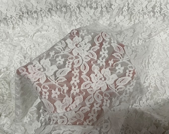 Nude Soft French Style Stretch Lace Fabric Dress Fabric 59/'/' Width Vintage Lace Lingerie Lace Bridal