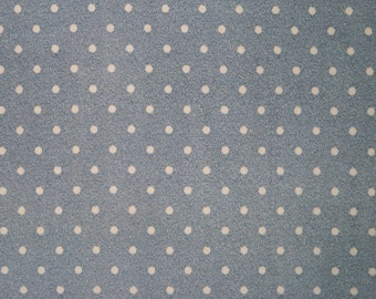 945af17de98 Denim Blue Brushed Polka Dot ITY Print #313 2-Way Stretch Knit Polyester  Lycra Spandex Apparel Craft Fabric 58