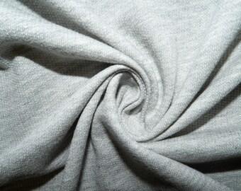 3388ca0ec87 Heather Gray French Terry #21 100% Cotton Apparel Fabric Medium Weight Soft  58