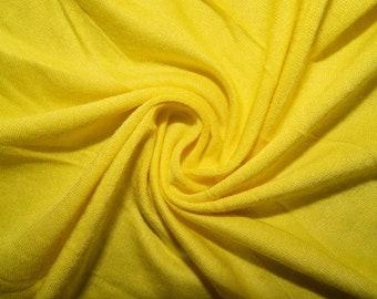 45bbccbcbce Bright Yellow Jersey Knit #92 Rayon Modal Spandex Lycra Stretch Apparel  Craft Fabric Photography 58