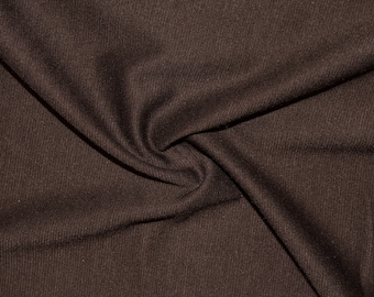 e86b74cdf67 Brown Ponte Di Roma Double Knit Polyester Rayon Spandex Lycra Stretch  Medium Weight Apparel Craft Fabric 58