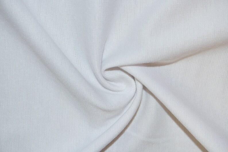 White Ponte Di Roma Double Knit Polyester Rayon Spandex Lycra image 0