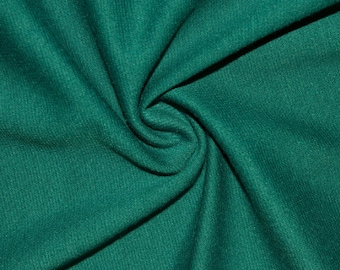 """Green Teal Ponte Di Roma Double Knit Polyester Rayon Spandex Stretch Medium Weight Apparel Craft Fabric 58""""-60"""" Wide By The Yard"""