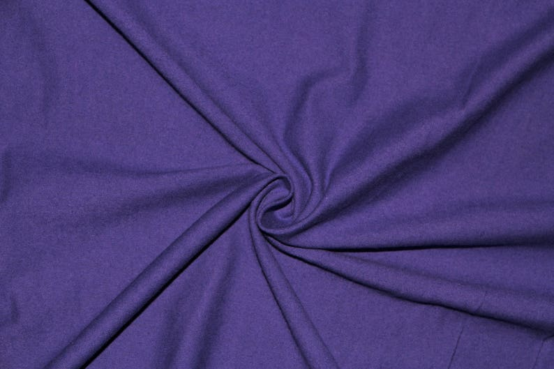 Dark Purple Jersey Knit Cotton Lycra Spandex Stretch BTY Sewing 9-10 Ounces