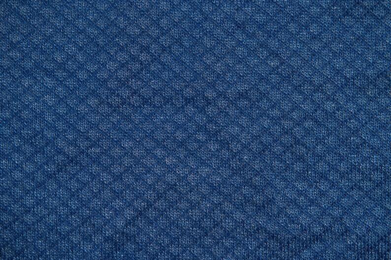 c226f72f33f Blue Geometric Jersey Sweater Knit 12 Rayon Polyester Apparel   Etsy