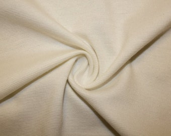 """Ivory Ponte Di Roma Double Knit Polyester Rayon Spandex Stretch Medium Weight Apparel Craft Fabric 58""""-60"""" Wide By The Yard"""