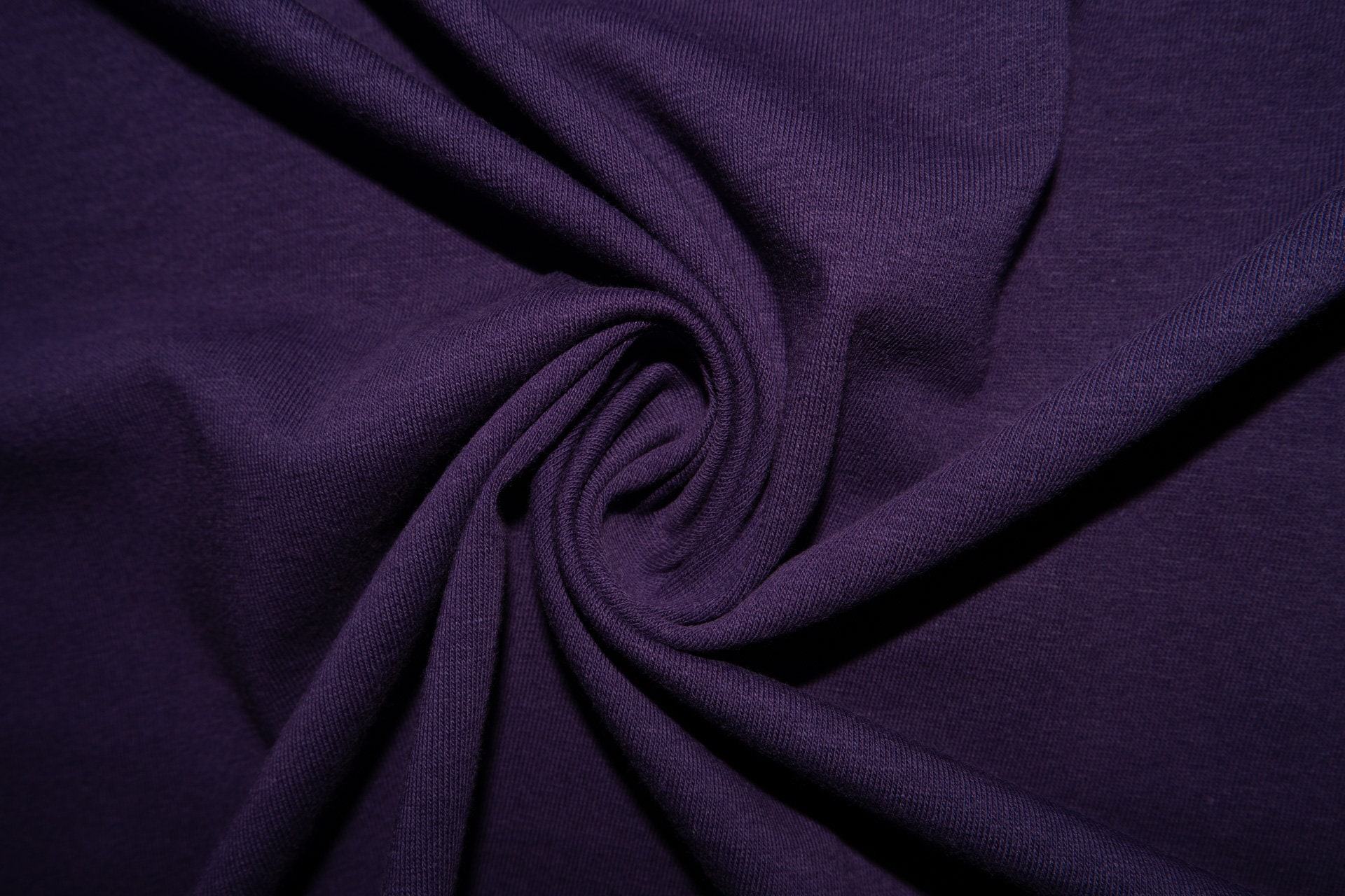 Purple Jersey Knit Cotton Lycra Spandex Stretch Sewing 9-10 Ounces BTY