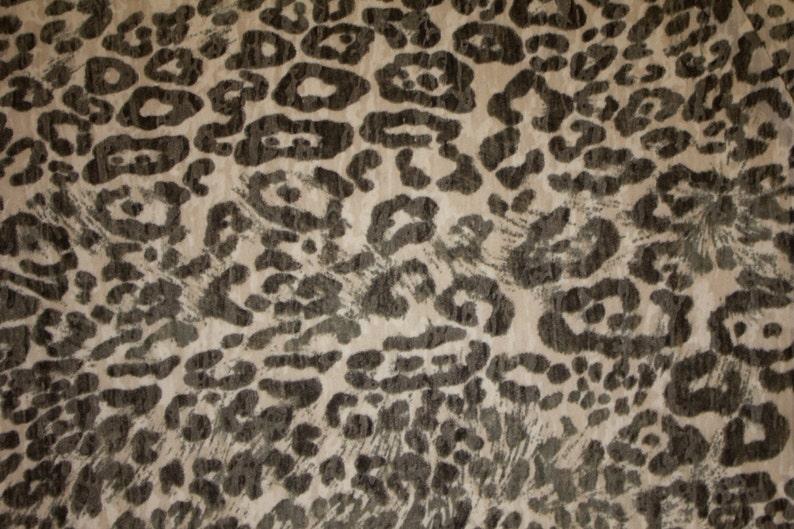 d9d2b9ef454 Black White Burnout Animal Jersey Knit Print 48 Rayon Modal | Etsy