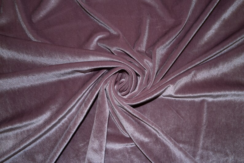 "Silver Velvet Lycra Stretch 90/% Poly 10/% Spandex Fabric 55/""-56/"" Wide BTY"