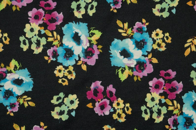 Floral Bullet Print #23 Fabric Double Knit Stretch Polyester Lycra Spandex BTY