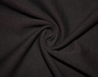 """Black Ponte Di Roma Double Knit Polyester Rayon Spandex Stretch Medium Weight Apparel Craft Fabric 58""""-60"""" Wide By The Yard"""