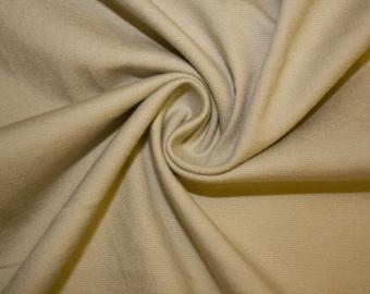 "Khaki Stretch Twill #16 Herringbone Cotton Bottom Weight Heavy Spandex Woven Apparel Fabric Denim Chino 55""-56"" Wide By The Yard"