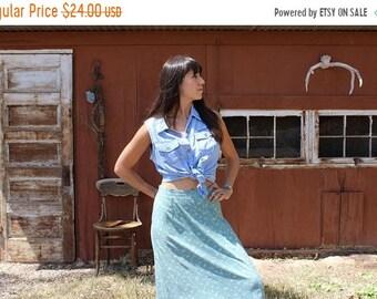 ON SALE vintage floral skirt // high waisted skirt // floral maxi skirt