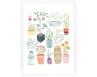 Pot Plants - archival art print