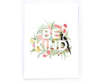 Be Kind - archival art print