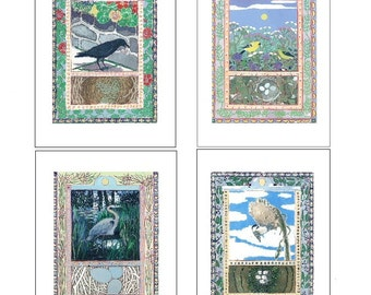Artists Blank Note Cards, 4-Pack