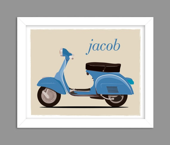 8x10 Color Photo Vespa Scooter Advertising Poster